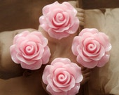 Limited discount Buy 1 Get 1 Free 20pcs Wholesale Beautiful Colorful Rose Flower Resin Cabochon  --20mm(CAB-BS-7)