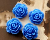 10 pcs Wholesale Beautiful   Colorful Rose Flower Resin Cabochon   -  -19mm(CAB-CB -17 )