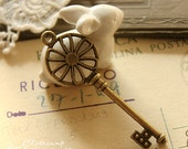 Big SALE-10pcs Vintage Antique Bronze plated brass Charms/Pendants-  (Key)-(HAB-65)