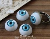 8Pcs 16mm  Resin Eye ball Cabochon -(CAB-CX-16-1)