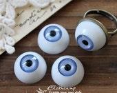 8Pcs 16mm  Resin Eye ball Cabochon -(CAB-CX-16-5)
