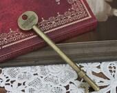 BIG SALE-4pcs Antiqued Vintage  Bronze  Charms/Pendants- (  Key ) 95X20mm(HAB-97)
