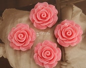 Limited discount Buy 1 Get 1 Free 20pcs Wholesale Beautiful Colorful Rose Flower Resin Cabochon --20mm(CAB-BS-36)
