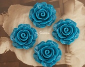 Limited discount Buy 1 Get 1 Free 20pcs Wholesale Beautiful Colorful Rose Flower Resin Cabochon  --20mm(CAB-BS-46)