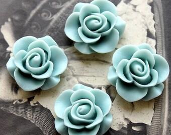 10PCS Wholesale BeautifulColorful Rose Flower Resin Cabochon   --20mm(CAB-S-1)
