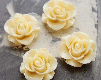 10pcs Wholesale Beautiful  Colorful Rose Flower Resin Cabochon   --20mm(CAB-S-6)