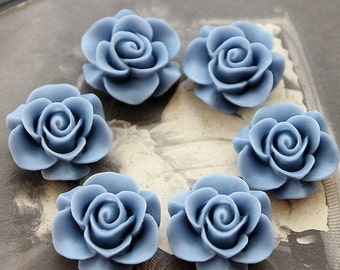 Wholesale Beautiful  Colorful Rose Flower Resin Cabochon   --20mm(CAB-S -23)