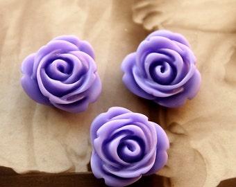 50% off -10pcs Wholesale Beautiful Colorful Rose Flower Resin Cabochon   -  -14mm(CAB-AP-4)