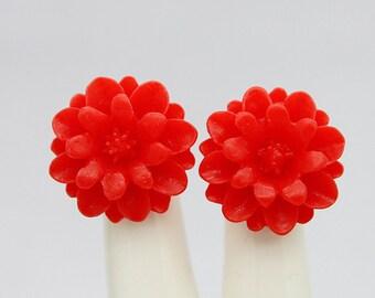 18mm Wholesale Beautiful Colorful Chrysanthemum Flower Cabochon - -18mm (CAB-JA -16)