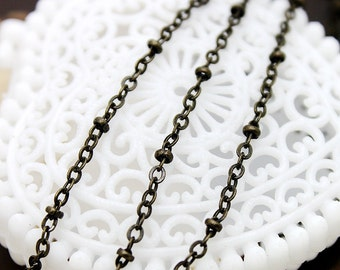 6.6 Feet Chain Antique Bronze Plated   Brass Link  Chains Perfect for  Necklaces and Bracelets (CHAINSS -3)