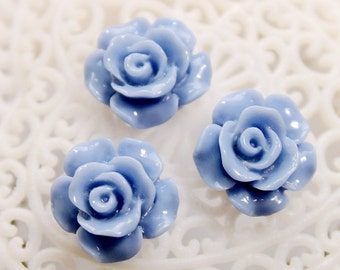 SALE-10pcs Wholesale Beautiful   Colorful Rose Flower Resin Cabochon   - -12mm(CAB-AK-37)