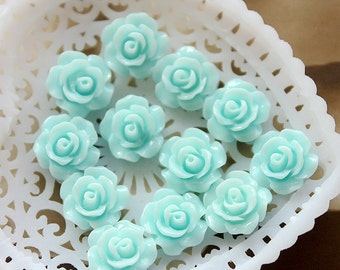 50% off - 10 pcs Wholesale Beautiful  Colorful   Flower Resin Cabochon   - 10mm -(CAB-AX -20)
