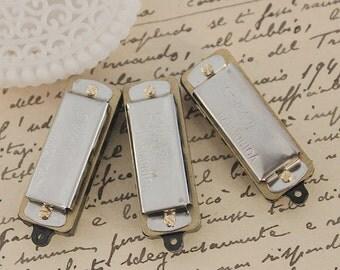 10PCS-  Silver Mini Vintage Style Harmonica Pendants-(FILIG-GD-17)
