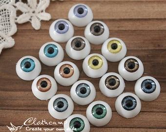 16Pcs 12mm 8colors  High quality  Resin Eye ball Cabochon -(CAB-CX-12-MIXSS)