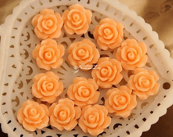 50% off - 10pcs Wholesale Beautiful Colorful Flower Resin Cabochon - 10mm -(CAB-AX-49)