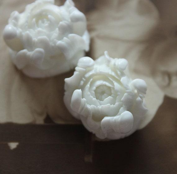 Last-Big SALE-20pcs  Beautiful   Colorful Rose Flower Resin Cabochon   - -20x23mm(CAB-BQ-5)