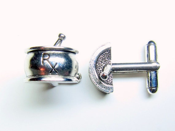 Silver Pharmacy RX Cuff Links