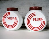 Antique Sugar and Flour Shakers