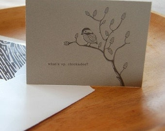 Letterpressed Chickadee Cards