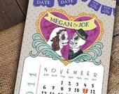Cute Day of the Dead Sugar Skull Día de los Muertos Save the Date by Luckyladypaper - CUSTOM CARD ORDER