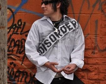 Disorder Punk Men's Dress Shirt Long Sleeve Button Up 77 Seditionaries Sex Pistols Goth