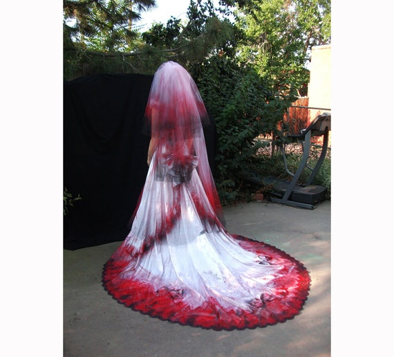 Bloody Vampire Countess Bride Southern Belle Costume