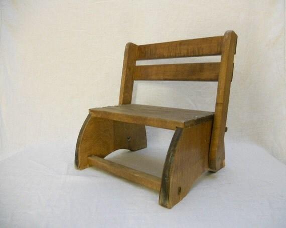 Vintage Childrens Chair & Step Stool