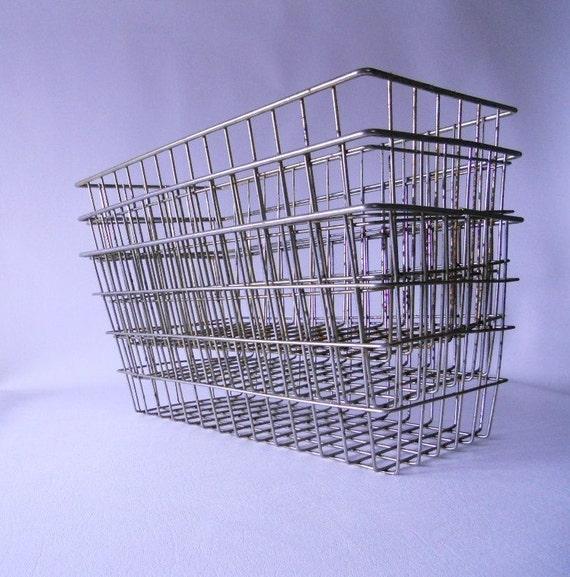 Vintage Industrial Storage Basket