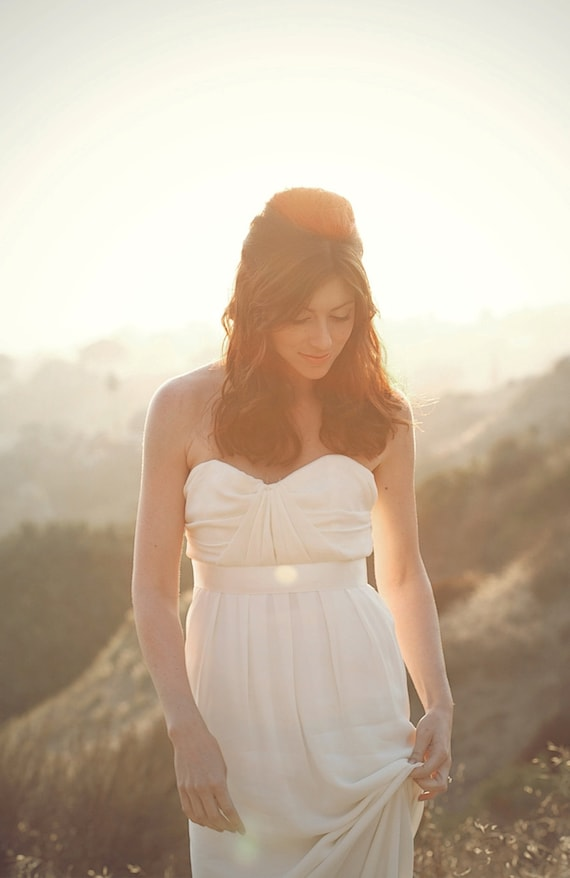 As seen in Exquisite weddings-Romantic strapless silk wedding dress