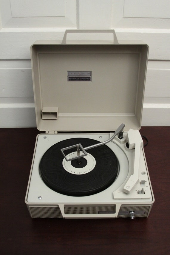 Ge Portable Automatic Record Player By Phatdog On Etsy