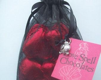 Love Spell Chocolate Hearts- Magical Charmed Enchanted Chocolates Of Martha's Vineyard