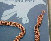 ON SALE Copper 2 in 2 Chainmaille Bracelet