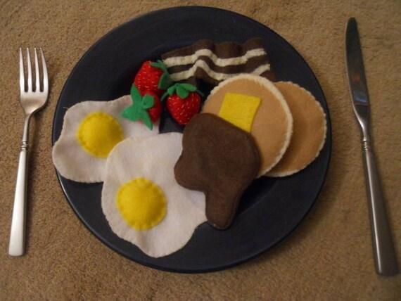 Felt Food Breakfast Set