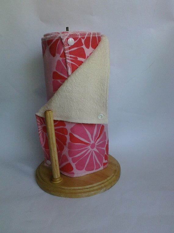 RESERVED- Snapping UnPaper Towels - Della Floral Rose