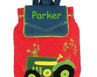 Personalized Boys Stephen Joseph Tractor Backpack