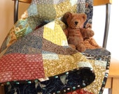 Summertime Play Quilt- A charming quilt for a beautiful girl or boy in delightful Japanese fabrics.