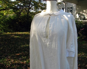 Mans 18th Century Linen Shirt, colonial, pirate, renaissance, made to order