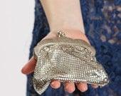 Vintage 1960s silver mesh purse