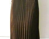 RESERED for LEAF Vintage 1980s Black  pleated NOS skirt