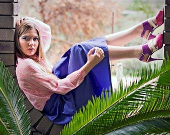Vintage 1970's Purple High Waist maxi skirt