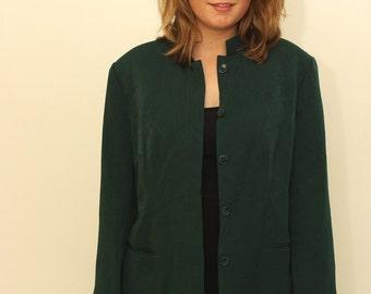 Vintage 1980s Green blazer suit jacket