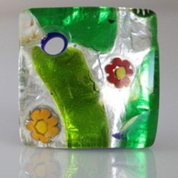 Garden-Inspired Italian Murano Glass Pendant
