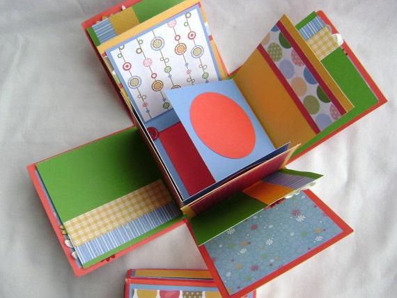 scrapbook in a box exploding scrapbook mini album