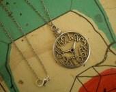 Steampunk/Alice in Wonderland Clockface Necklace
