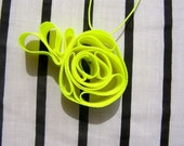 Free Shipping Fluo neon yellow necklace pendant flower