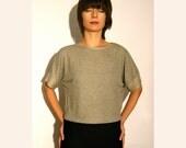Melange grey shirt loose cashmere jersey - one size SALE