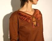 Winter shirt warm blouse tribal fringes tassels
