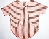 Stripe short front shirt eco friendly chevron geometric