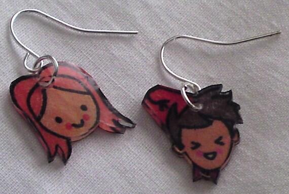 Kawaii Doctor and Amy earrings
