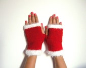 Christmas gifts,Fall Fashion,winter Accessories,Wrist Warmers,red fingerless gloves